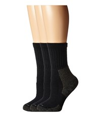 Thorlos Hiking Crew 3 Pair Pack Black Women's Crew Cut Socks Shoes