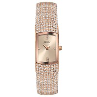 Sekonda 2374.37 Women's Seksy Swarovski Crystal Oblong Bracelet Strap Watch Rose Gold