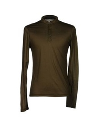 Gold Case By Rocco Fraioli T Shirts Military Green