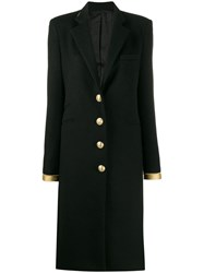 Paco Rabanne Gold Tone Trim Coat Black