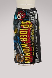 Olympia Le Tan Sequins Spider Woman Skirt Black