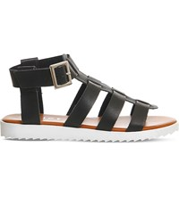 Office Brody Gladiator Faux Leather Sandals Black
