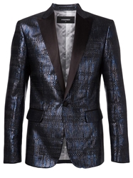 Dsquared2 Metallic Jacquared Blazer Blue