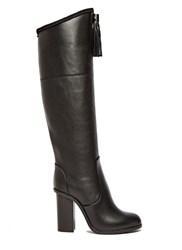 Lanvin Long Tasselled Leather Boots Black
