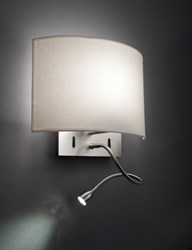 Bover Wall Street Fl Wall Sconce Cream White