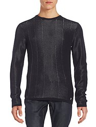 Versace Shimmer Crewneck Sweater Black