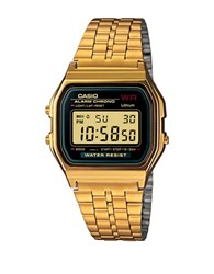 G Shock Casio Vintage Square Digital Chronograph Gold