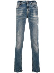 7 For All Mankind Faded Effect Jeans Blue