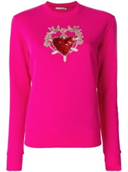 Amen Embroidered Knitted Top Pink