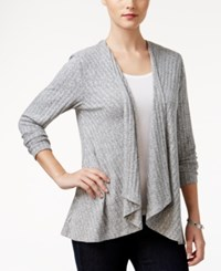 Styleandco. Style Co. Petite Lace Back Draped Cardigan Only At Macy's Grey