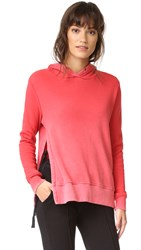 Pam And Gela Hoodie With Side Slits Red Hot