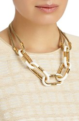 Lafayette 148 New York Women's Libre Link Statement Necklace Cloud
