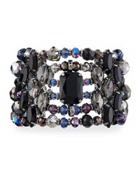 Emily And Ashley Multi Row Statement Crystal Cuff Bracelet Black
