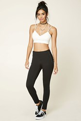 Forever 21 Contemporary Lace Up Leggings