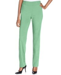 Jm Collection Petite Studded Pull On Pant Waterfall Mint