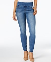 Jag Petite Nora Pull On Skinny Jeans Weathered Denim