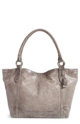 Frye Melissa Leather Shoulder Bag Grey Ice