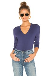 525 America V Neck Sweater Blue