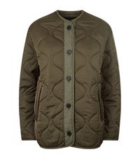 Allsaints Hayes Quilted Jacket Female Green