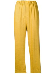 Forte Forte Cropped Trousers Yellow