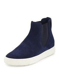 Vince Newlyn Hidden Wedge High Top Sneaker Heather Indigo Women's