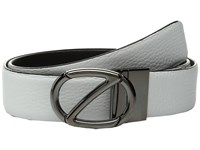 Z Zegna Reversible Bkabg1 H35mm Belt White Dark Blue Men's Belts