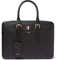 Thom Browne Pebble Grain Leather Briefcase Black