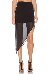 Bcbgeneration Asymmetric Skirt Black