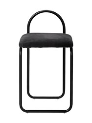 Aytm Angui Iron And Padded Cotton Chair Black