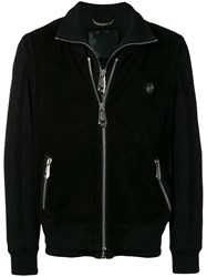 Philipp Plein Double Zipped Track Jacket Black
