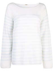 Adam By Adam Lippes Striped Jumper White