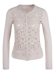 Marc Cain Lace Front Cardigan Shell