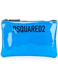 Dsquared2 Patent Leather Pouch Blue