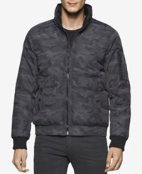 Calvin Klein Jeans Men's Camo Puffer Jacket Dark Grey