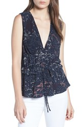 Chelsea 28 Chelsea28 Pleated Tank Navy Blazer Feather Grass
