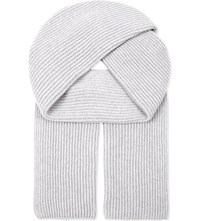 Johnstons Ribbed Cashmere Scarf Coyote
