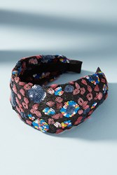 Anthropologie Lila Sequined Headband Purple Motif