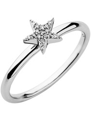 Links Of London Diamond Essentials White Pave Star Ring Silver