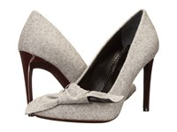 Proenza Schouler Fabric Bow Pump Grey High Heels Gray