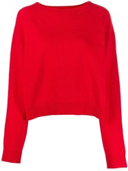 Semicouture Regular Fit Crew Neck Jumper Red