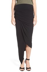 Young Fabulous And Broke Women's Young Fabulous And Broke 'Sassy' Asymmetrical Maxi Skirt Black