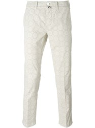 Jacob Cohen Floral Print Trousers Nude And Neutrals