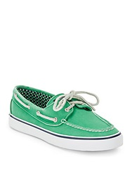 Sperry Bahama 2 Eye Canvas Boat Shoes Green