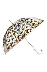 Shedrain 'The Bubble' Auto Open Stick Umbrella Pink Nord Butterfly