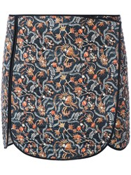Isabel Marant Quilted Print Skirt Women Silk Cotton 38