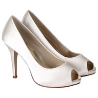 Rainbow Club Jennifer Satin Platform Peep Toe Court Shoes