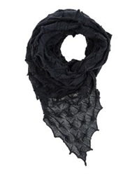 Liviana Conti Oblong Scarves Steel Grey