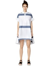 I'm Isola Marras Striped Short Sleeve Cotton Shirt Dress
