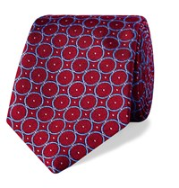 Turnbull And Asser 9.5Cm Silk Jacquard Tie Red