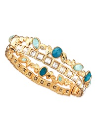Alexis Bittar Gilded Muse D'ore Skinny Stacked Hinge Cuff